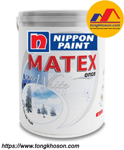 Sơn trần Nippon Matex Super White nội thất mịn