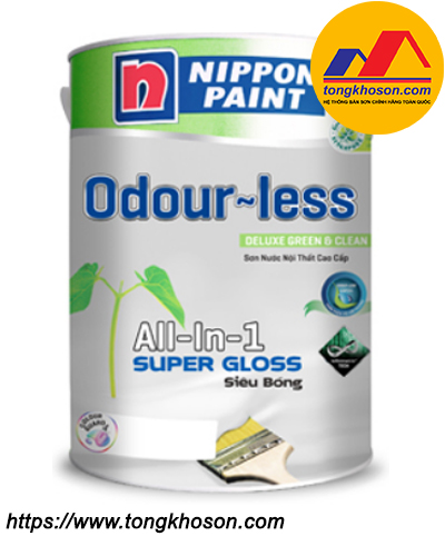 Sơn Nippon Odourless Super Gloss nội thất siêu bóng