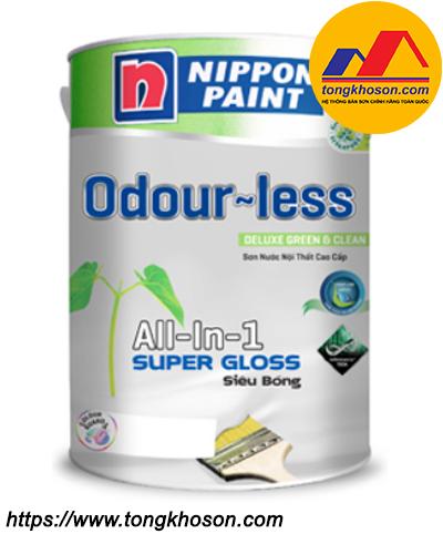 Sơn Nippon Odourless Super Gloss nội thất siêu bóng