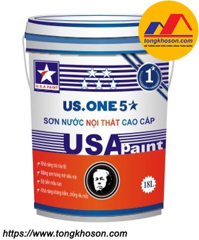 Sơn nội thất bán bóng USA Paint US.One 5 sao