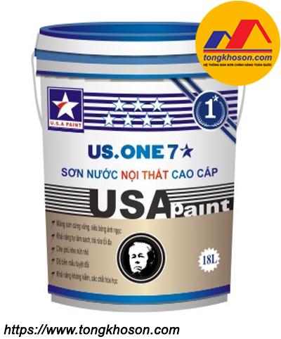 Sơn nội thất bóng ngọc trai USA Paint US.One 7 sao