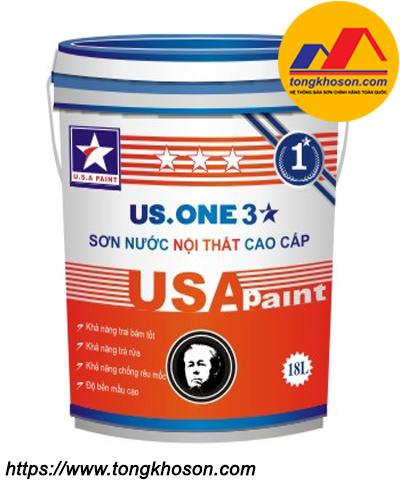 Sơn nội thất mịn USA Paint US.One 3 sao