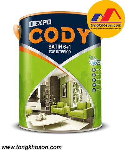 Sơn Oexpo Cody Satin 6+1 nội thất bóng
