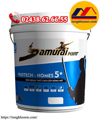 Sơn Samurai Protech Homes 5* ngoại thất bóng mờ