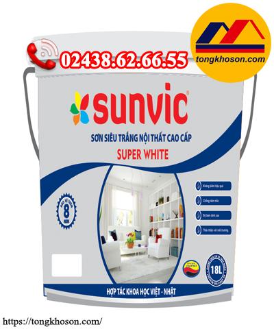 Sơn siêu trắng Sunvic Super White