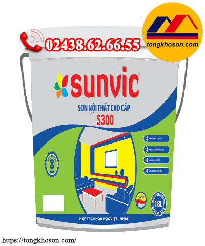 Sơn Sunvic nội thất S300 láng mịn