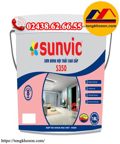Sơn Sunvic nội thất S350 siêu bóng