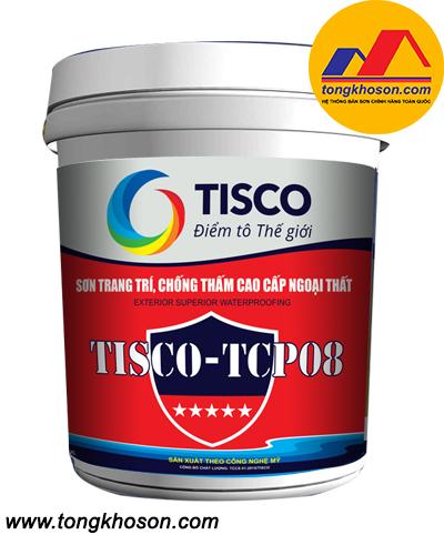 Sơn trang trí chống thấm cao cấp ngoại thất Tisco TCP08