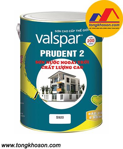 Sơn Valspar Prudent 2 ngoại thất láng mịn S920