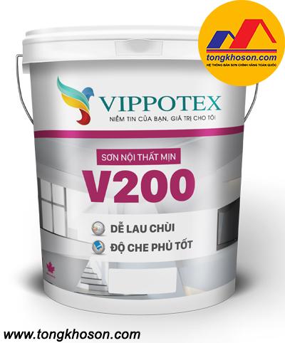 Sơn Vippotex V200 nội thất lau chùi