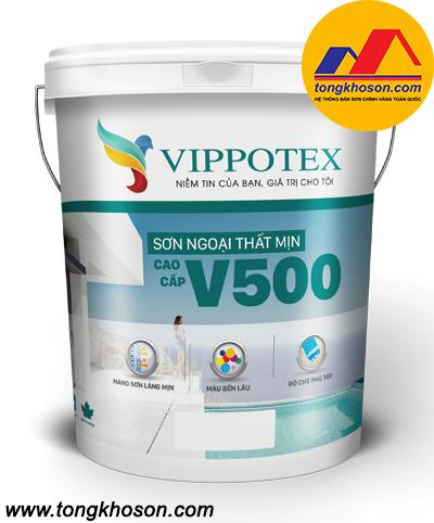 Sơn Vippotex V500 ngoại thất mịn cao cấp