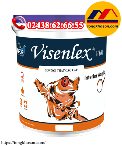 Sơn Visenlex V100 nội thất mịn