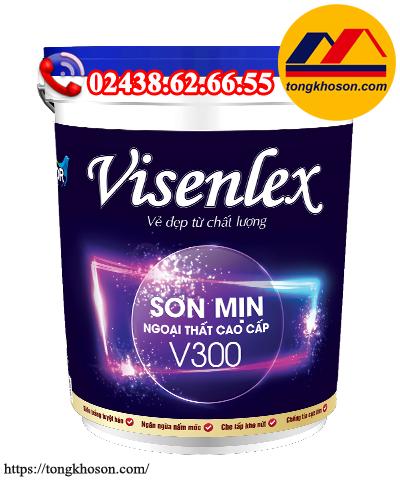 Sơn Visenlex V300 ngoại thất mịn