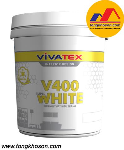 Sơn Vivatex siêu trắng nội thất dùng sơn trần nhà