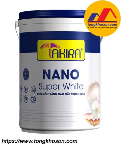 Sơn siêu trắng cao cấp nội thất Takira Nano Super White