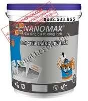 Sơn Nanomax siêu trắng nội thất dùng cho trần nhà