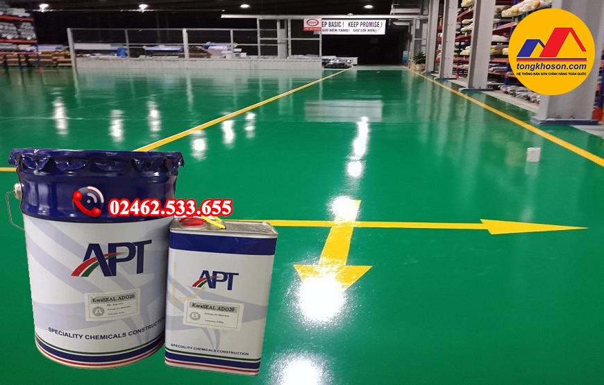sơn Epoxy sàn nhà xưởng APT ADO20 gốc dầu hệ lăn