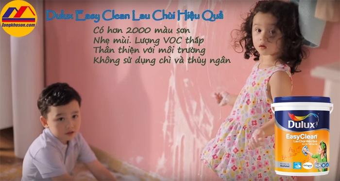 Sơn Dulux Easy Clean lau chùi hiệu quả