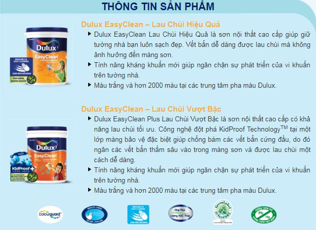 sơn Dulux Easy Clean