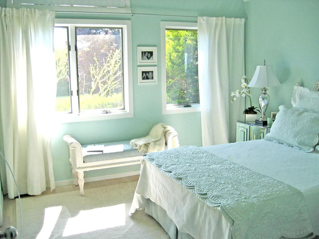 Sơn nhà màu xanh bạc hà