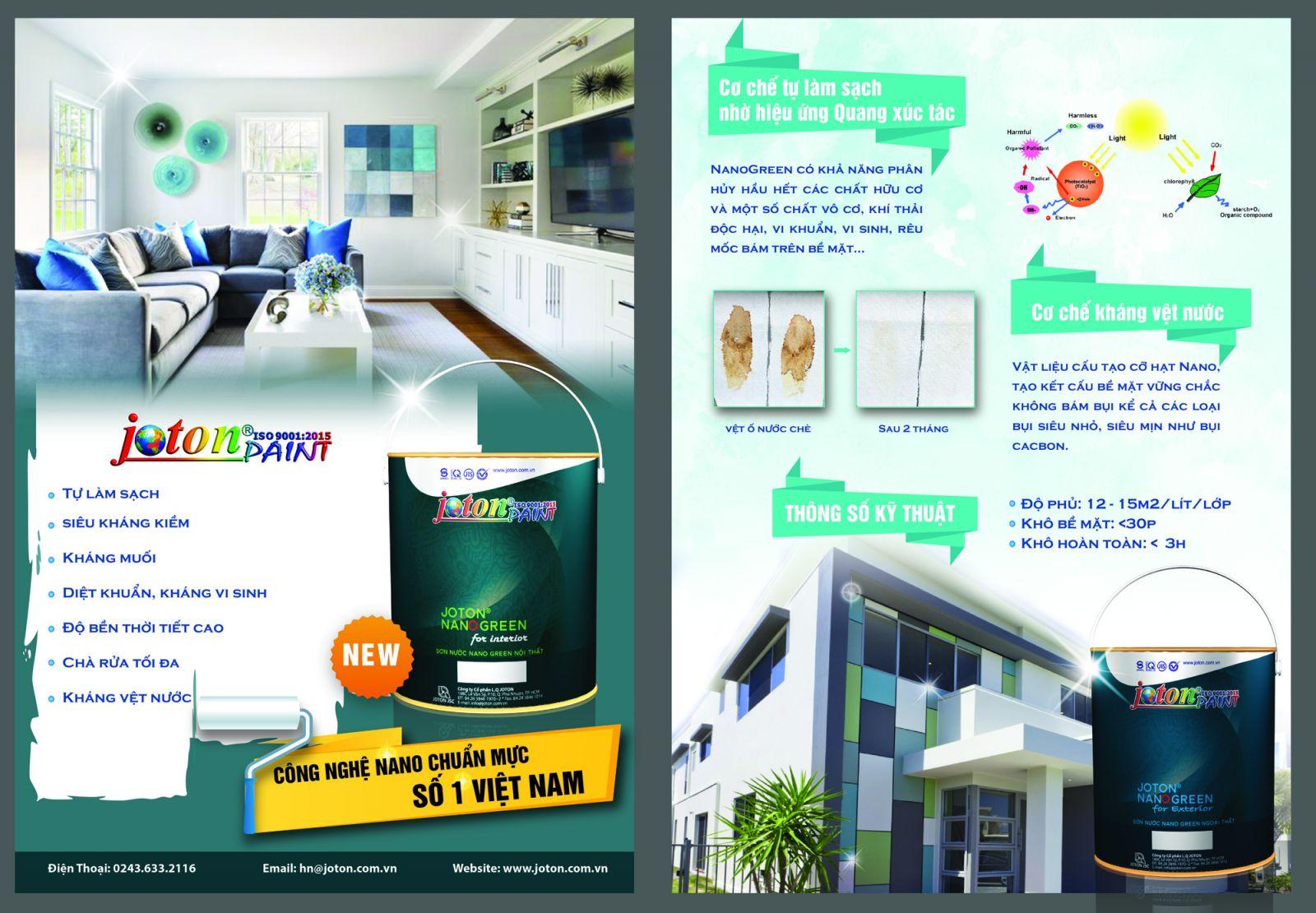 Một số cơ chế hoạt động của Joton Nano Green nội thất