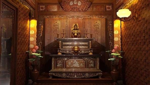 sơn phòng thờ đẹp 1