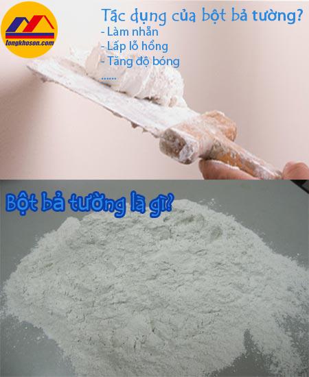 tác dụng của bột bả tường