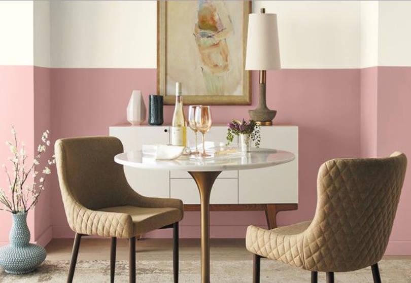 gam màu hồng đất cho không gian dịu ngọt