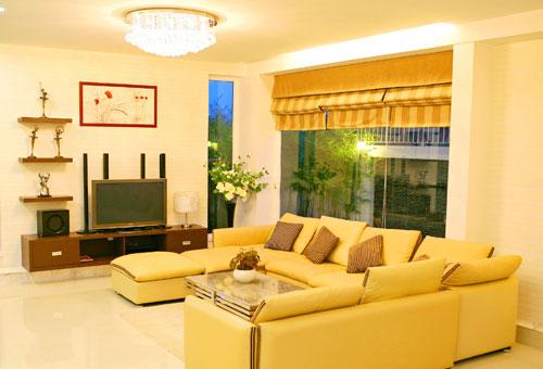 Phòng khách đẹp cho người mệnh Thủy