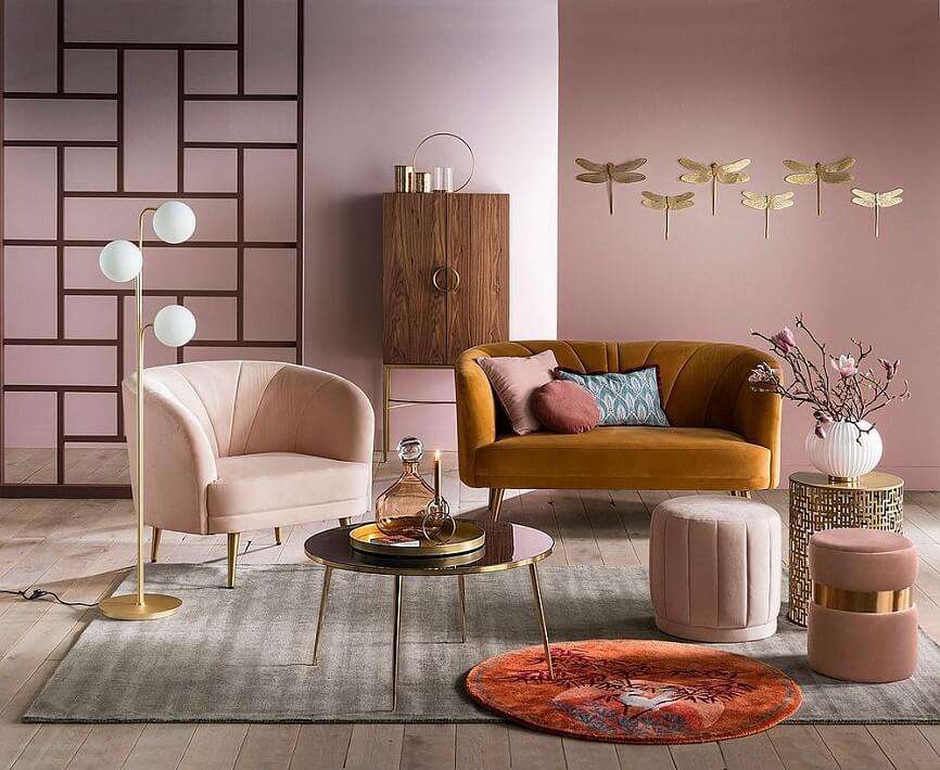 Trang trí phòng khách với gam màu nâu Pastel