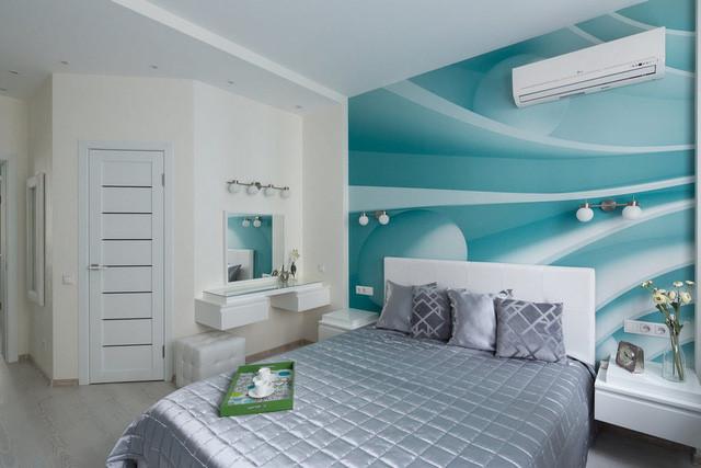 Phòng ngủ quá đỗi xinh đẹp với gam màu xanh ngọc