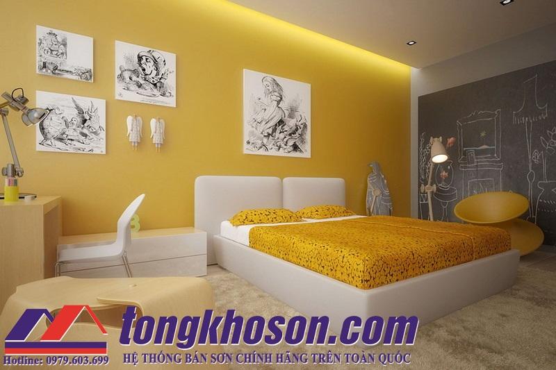 Sơn Phòng Ngủ Màu Gì đẹp Và ấn Tượng Tongkhosoncom