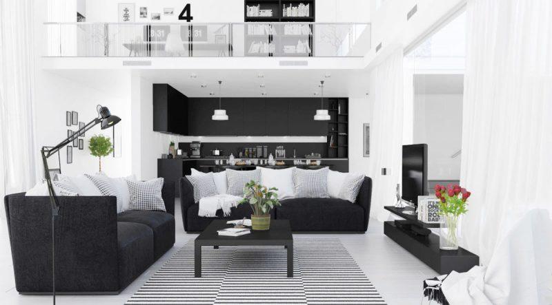 màu trắng làm nền cho nội thất tỏa sáng