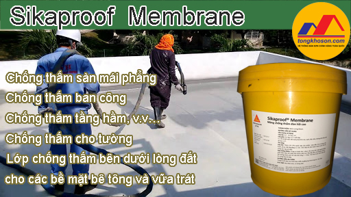 Sikaproof membrane ứng dụng