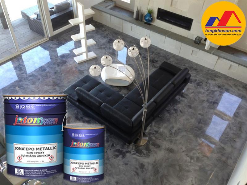 Sàn 3d sử dụng sơn Epoxy Joton Jona metalic