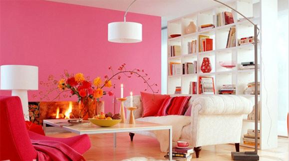 tông màu hồng đậm mang đến sự ấm cúng và không khi tết ngập tràn