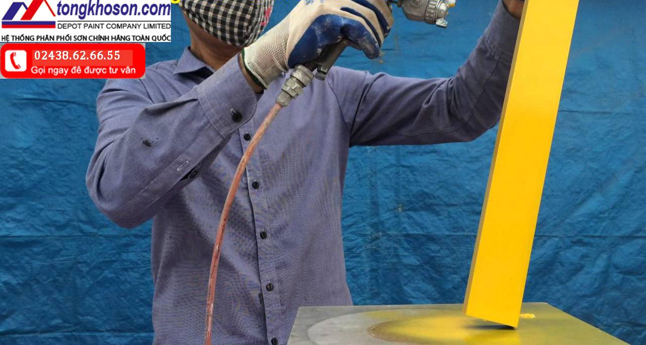 thi công sơn ống thép mạ kẽm