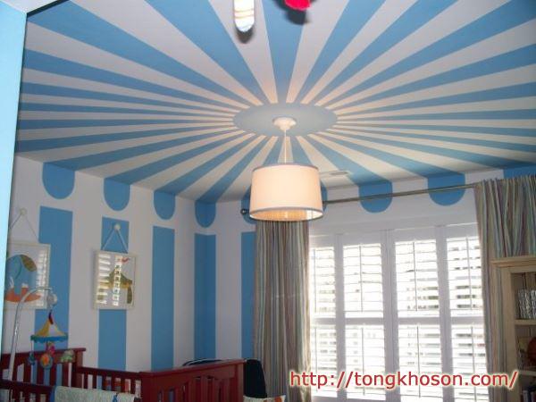 mẫu sơn trần nhà đẹp