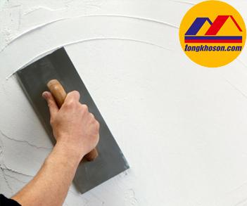 thi công bột trét tường