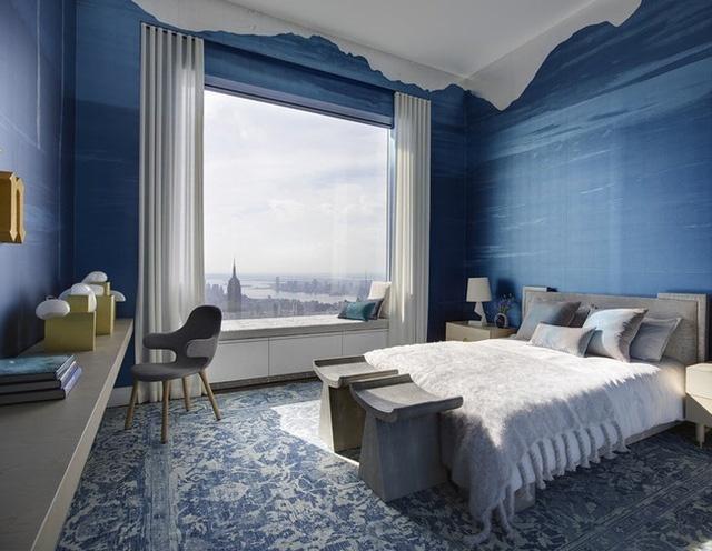 sơn nhà màu xanh cổ điển 2