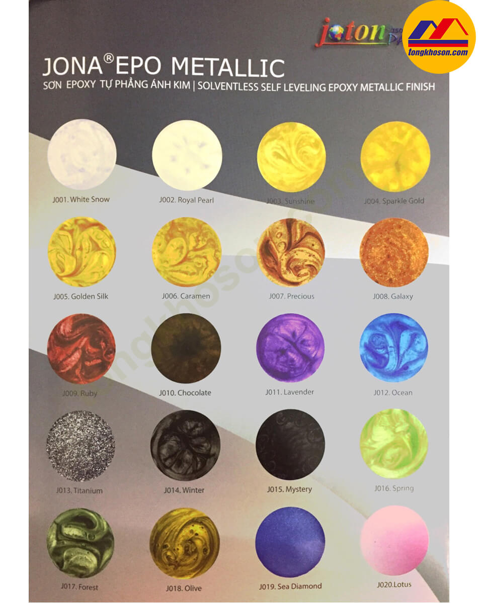 Bảng màu sơn Epoxy Joton Jona Epo Metallic