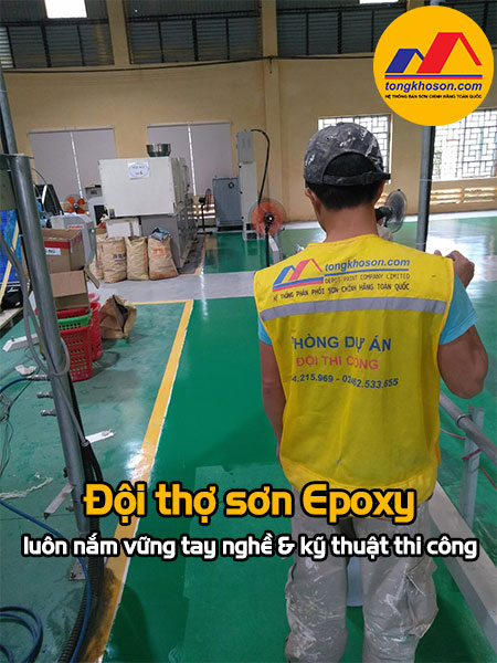 Đội thợ sơn Epoxy luôn nắm vững kỹ thuật thi công